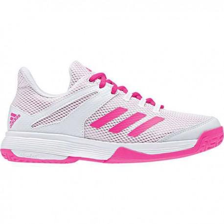 12d5b4aeda2 Zapatilla de balonmano Adizero Club K blanco rosa ADIDAS - Balonmano ...
