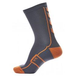 Calcetin Tech Indoor gris oscuro/naranja HUMMEL