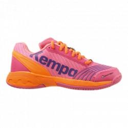 Calçat d'handbol Attack Junior rosa/taronja KEMPA